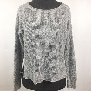 Hollister Heather Gray Pullover Knit Sweater